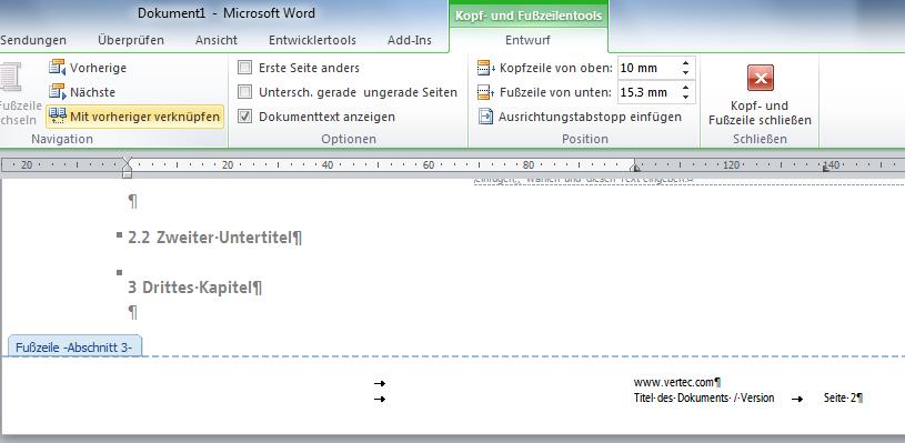 Seitenzahlen Formatieren Word 2010