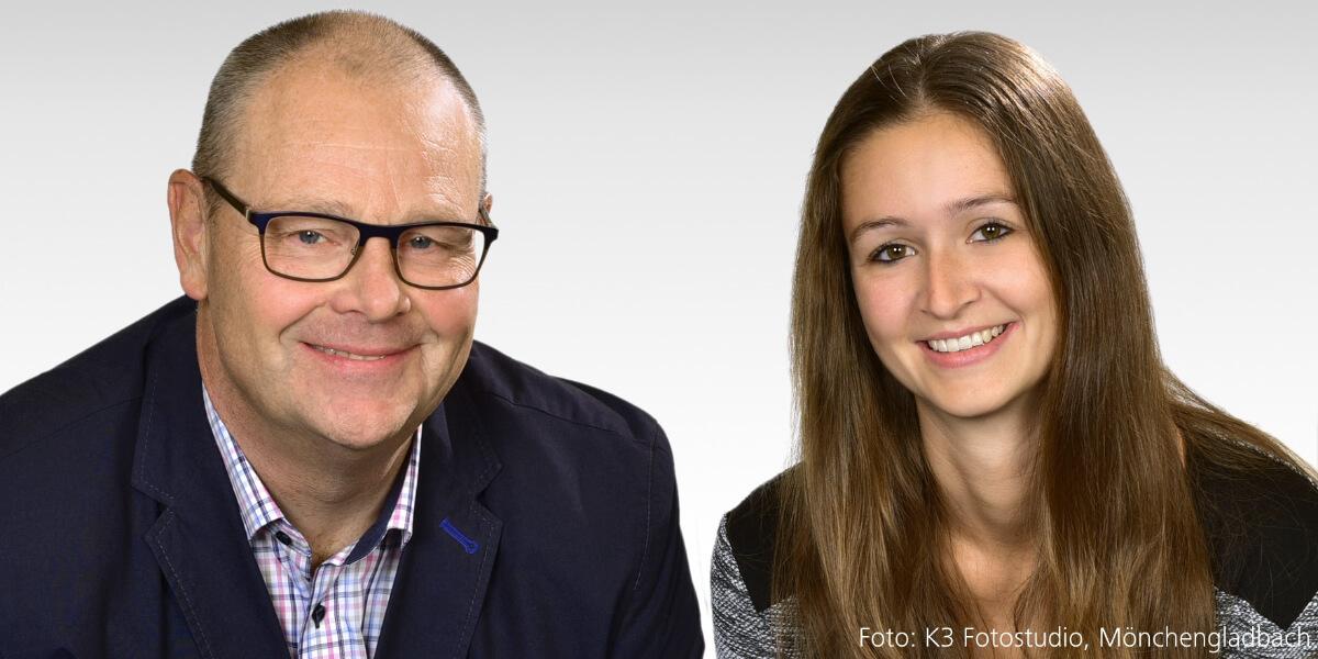 Helmut van Ool und Kathrin Schatten (UVM)