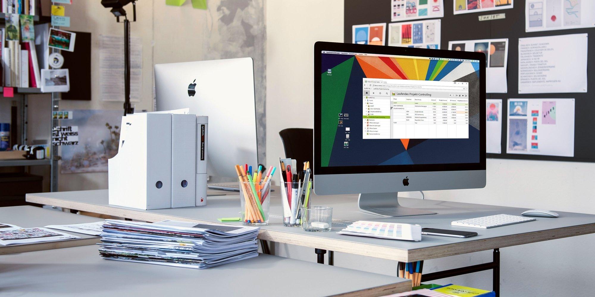 Agentursoftware Vertec auf dem Mac