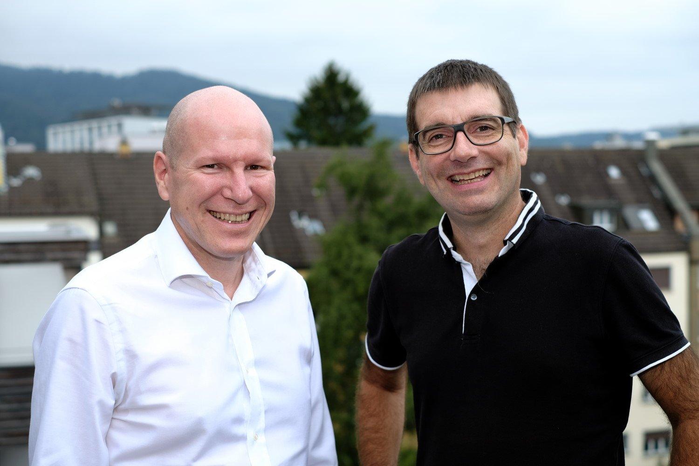 Thomas Brändle, Geschäftsführer Run my Accounts und Claudio Pietra, Geschäftsführer Vertec
