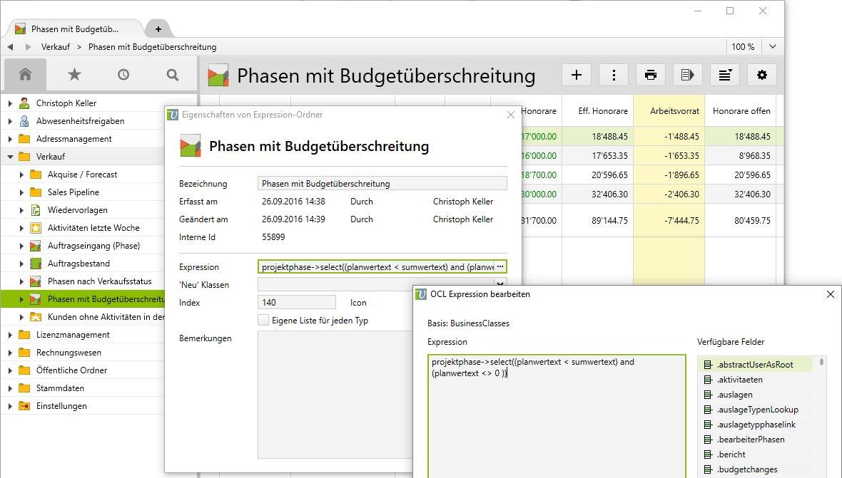 Budgetüberschreiten einsehen und unter Kontrolle behalten