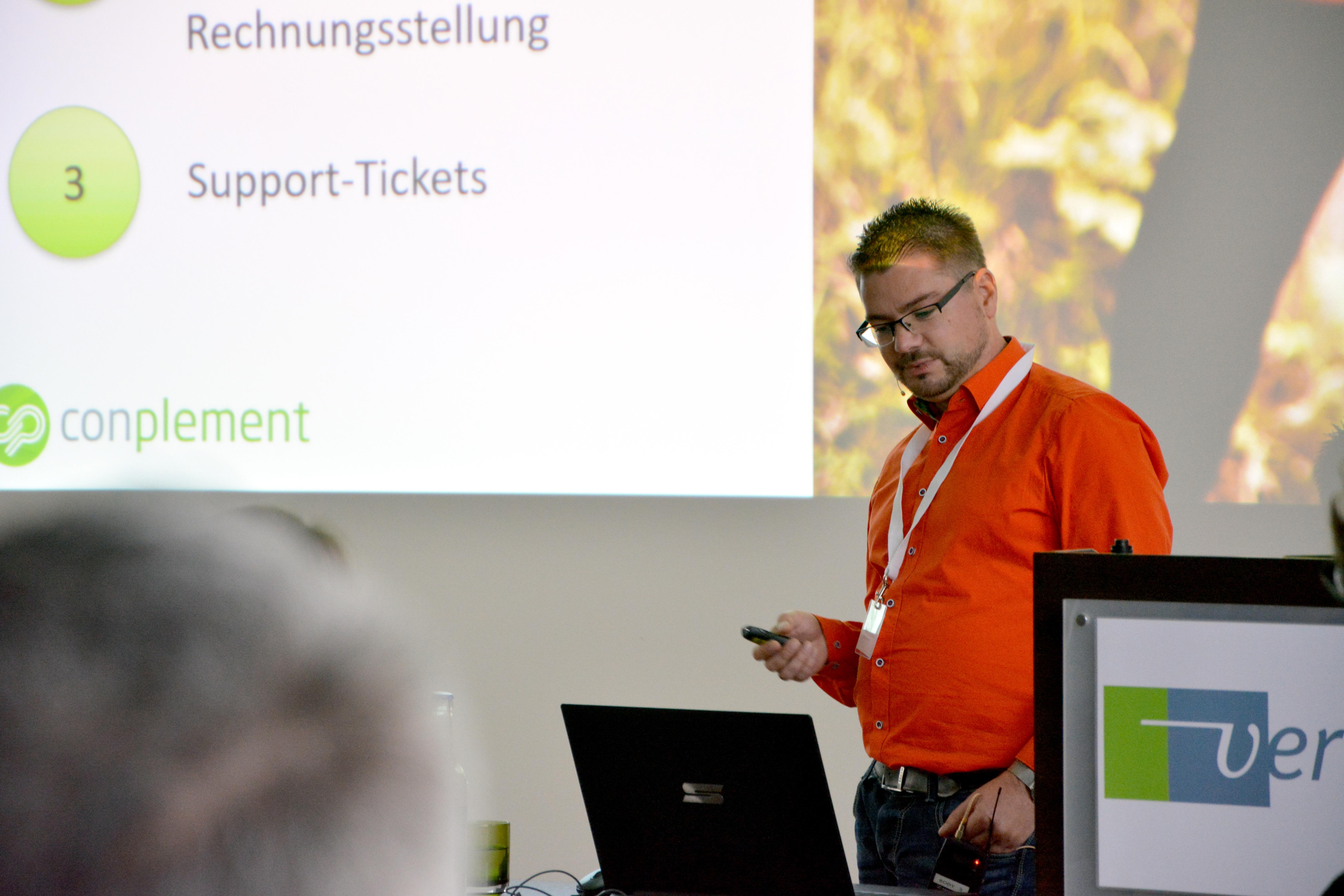 Frank Hauptlorenz (conplement AG) auf der Vertec Anwendertagung