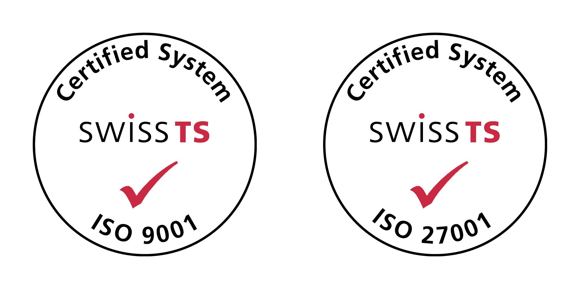 Vertec ist für Qualitätsmanagement ISO 9001 und für den Umgang mit Informationssicherheit ISO 27011 zertifiziert
