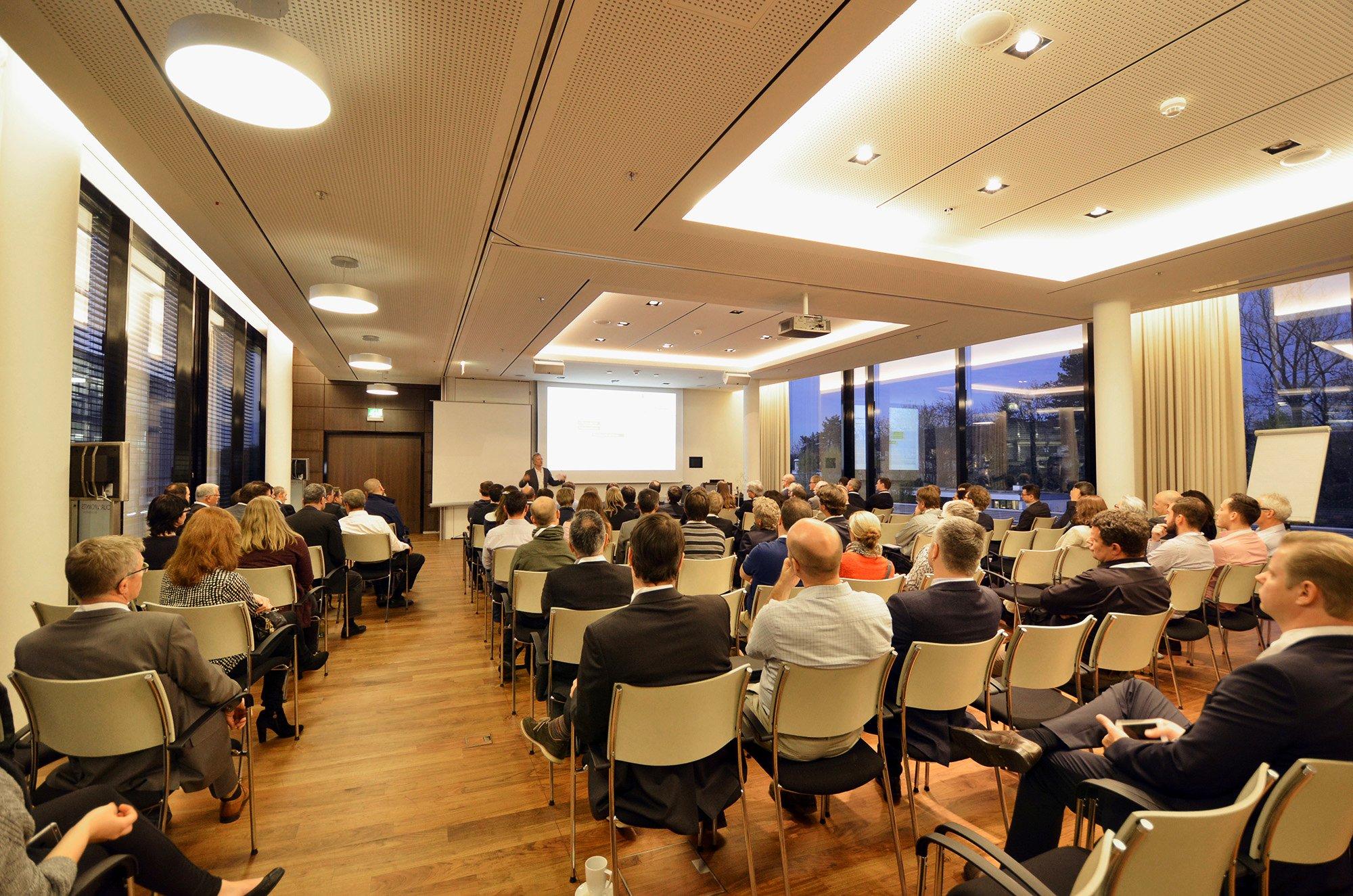 Vortrag im Seminarraum der Anwendertagung