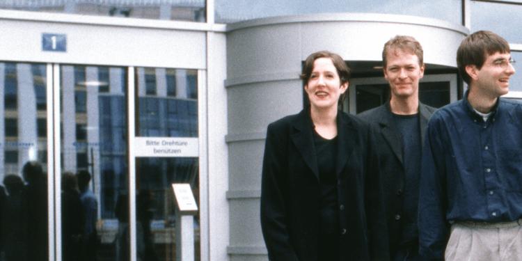 1996 - Sina Thomas, Samuel Iseli und Claudio Pietra - auch heute noch bei Vertec