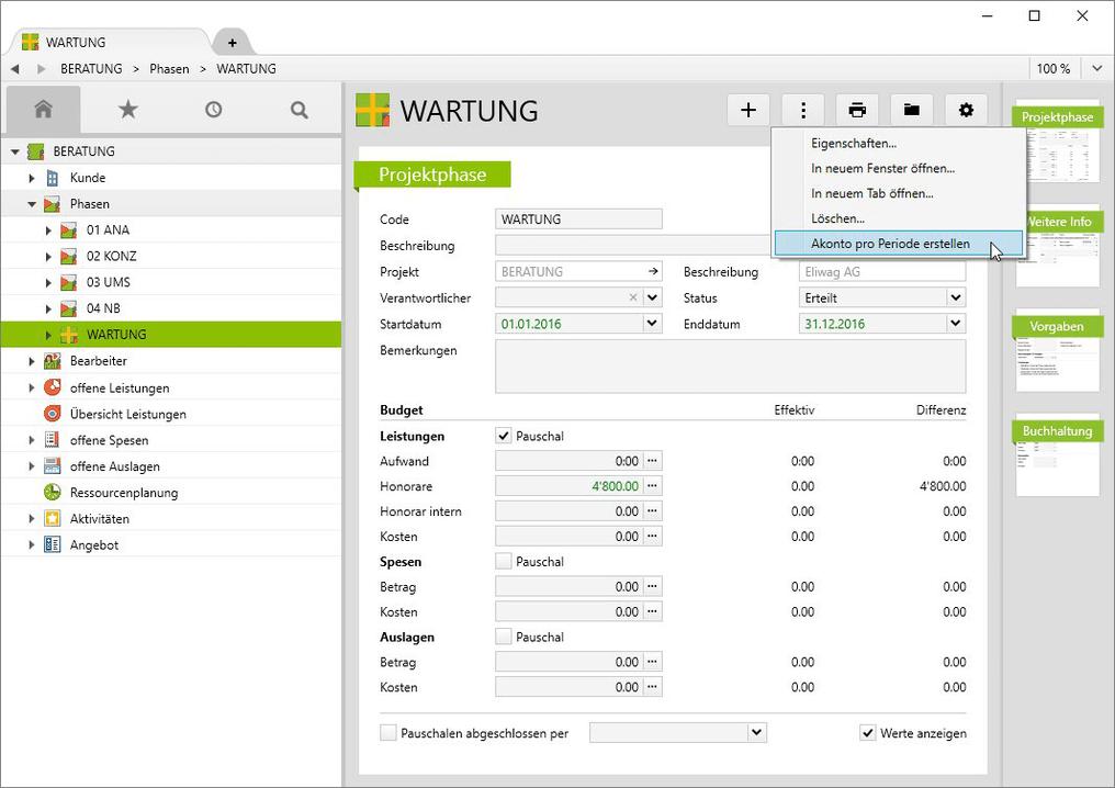 Automatisieren Sie Rechnungen mit wiederkehrenden Beträgen beispielsweise für Wartung.