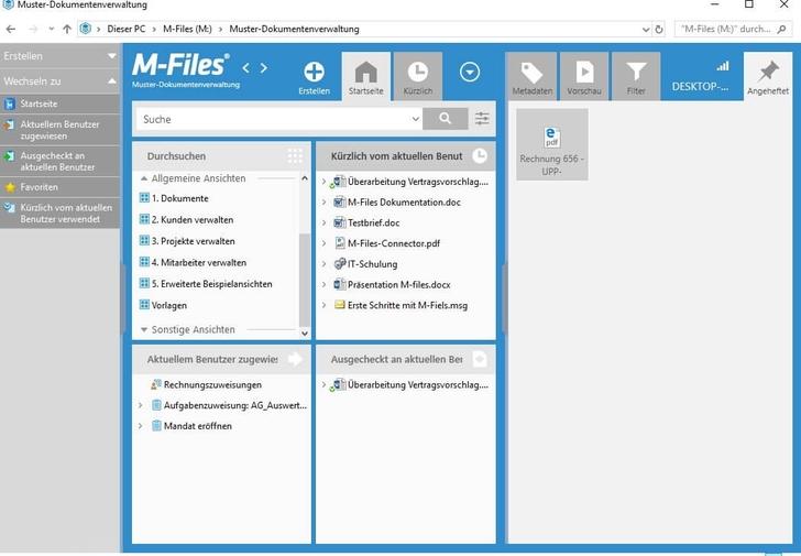 Einblick in die Dokumentenverwaltung mit M-Files.