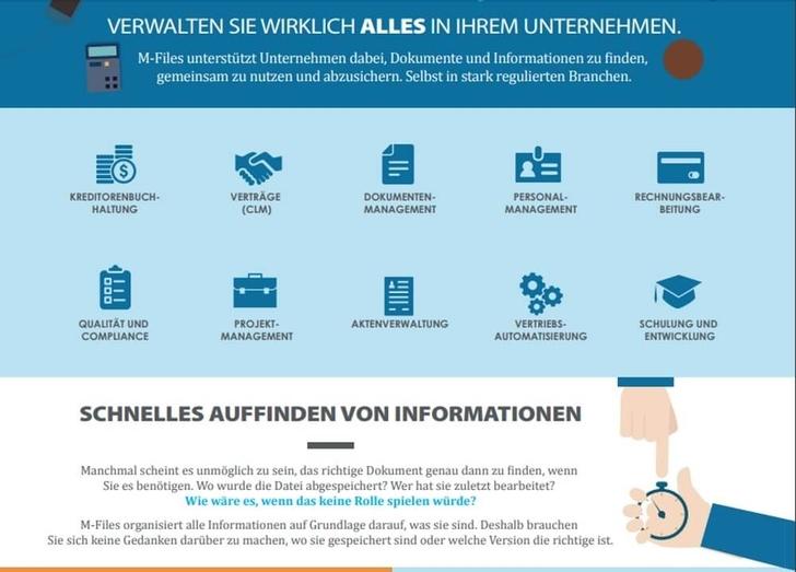 Einfach Verwaltung aller wichtigen Dokumente und Informationen mit M-Files.